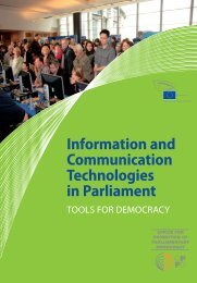 Information and Communication Technologies in Parliament - Europa