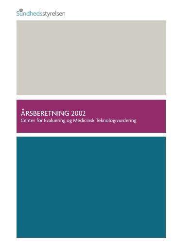 ÅRSBERETNING 2002 - Sundhedsstyrelsen