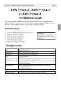 INSTALLATION GUIDE AXIS P13-E Network Camera ... - IP Way - Page 5