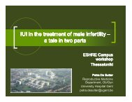 IUI in the treatment of male infertility IUI in the treatment of ... - eshre