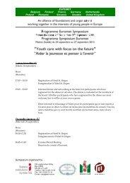 Draft programme EUROMET SYMPOSIUM