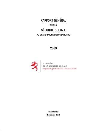 RAPPORT GÉNÉRAL SÉCURITÉ SOCIALE 2009 - Ministère de la ...
