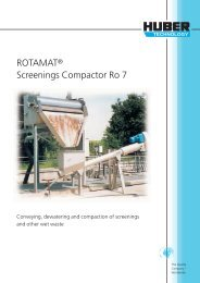 ROTAMAT® Screenings Compactor Ro 7 - Huber Technology