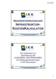 NIKK - Raumordnung und Regionalpolitik