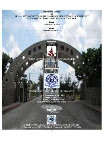 International Seminar on Human Development ... - Assam University