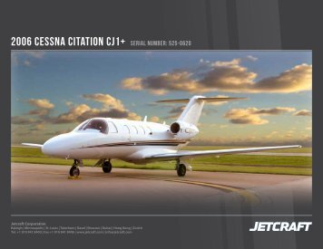 2006 Cessna Citation CJ1+ serial number: 525-0620 - Business Air ...