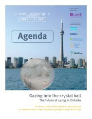 Gazing into the crystal ball - CAMH Knowledge Exchange - Centre ...