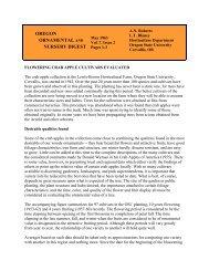 Flowering Crab Apple Cultivars Evaluated, Vol.7, Issue 2