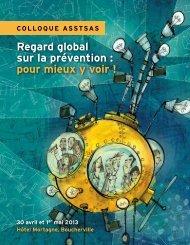 Regard global sur la prévention : pour mieux y voir ... - Asstsas