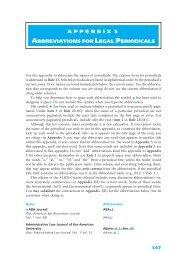 appendix 5 abbreviations for legal periodicals - Aspen Publishers