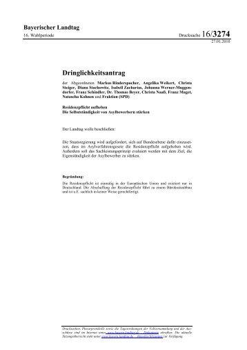 Dringlichkeitsantrag - Angelika Weikert, MdL