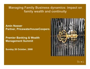 Managing Family Business dynamics: impact on family ... - ITP.net