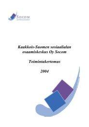 Toimintakertomus 2004 - Socom