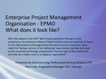 Enterprise Project Management Organisation - Association for ...