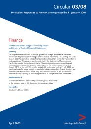Further education colleges: accounting policies and return of ...
