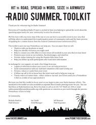Radio Summer Toolkit! - Prometheus Radio Project