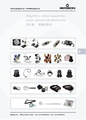Magnifiers, viewer appparatus Lupas, aparatos de ... - Bergeon SA