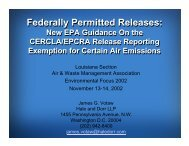 Federally Permitted Releases - WilmerHale