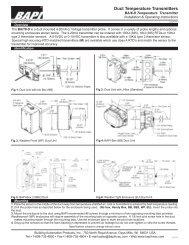 Duct Temperature Transmitters - BAPI