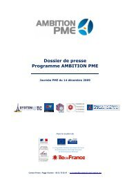 Dossier de presse : Programme ambition PME - Systematic