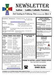newsletter - Parishes
