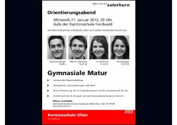 Schwerpunktfach Musik - Kantonsschule Olten