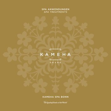 KAmehA SPA treAtmentS - Kameha Grand Bonn