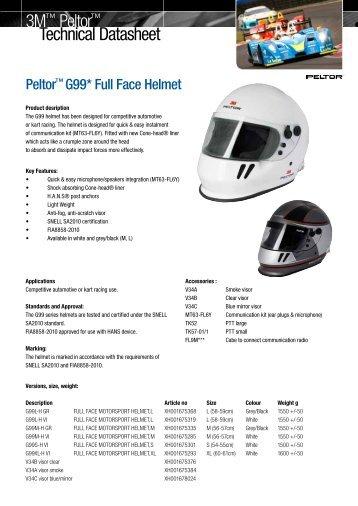 Technical Datasheet 3M™ Peltor™