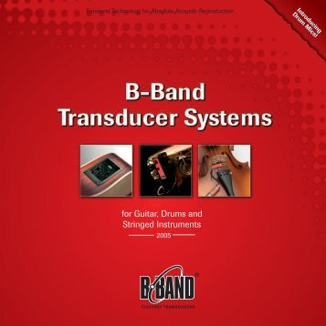 for Guitar, Drums and Stringed Instruments - B-Band, Inc.