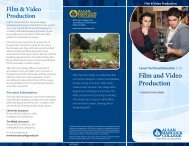 Film and Video Production - Allan Hancock College