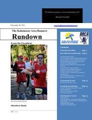 December 2011 - Kalamazoo Area Runners