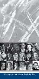 Programm Saison 2008/09 (PDF) - Berner Kammerorchester