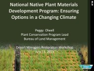 National Native Plant Materials Development Program - Desert ...