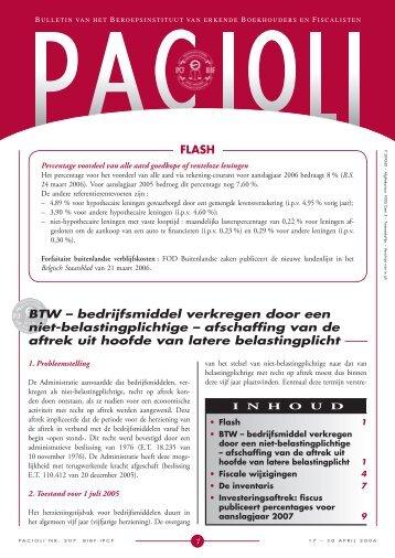 FLASH BTW – bedrijfsmiddel verkregen door een niet ... - BIBF