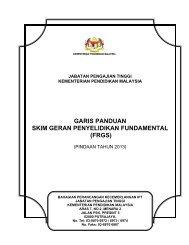 Garis Panduan FRGS Pindaan 2013 - Jabatan Pengajian Tinggi ...