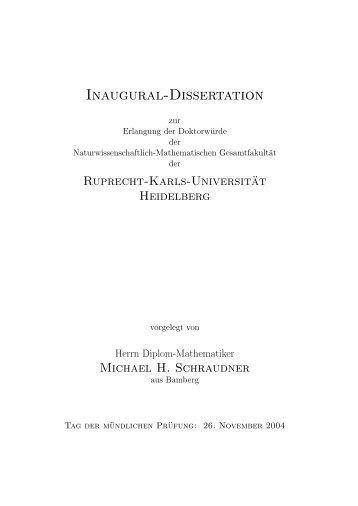Inaugural-Dissertation - CMM