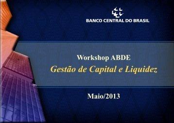 Gestão de Capital e Liquidez - Abde