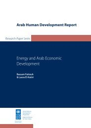 Energy and Arab Economic Development - Arab Human ...