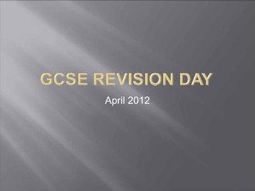 GCSE Revsion 2012