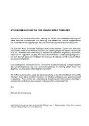 Zentrale Studienberatung - Universität Tübingen