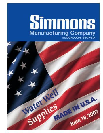 Simmons 2007 Catalog - Granite Peak Pump Service