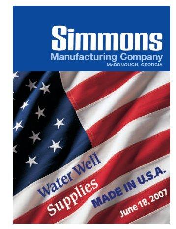 Simmons 2007 Catalog - Granite Peak Pump Service