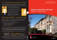 Private Accommodation Information Students - A guide for you