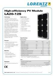 Lorentz Solar PV Module - LA20-12S - www.solar-wind.co.uk