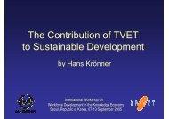 The Contribution of TVET to Sustainable Development - Intervoc