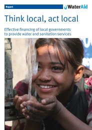 Think local, act local - WaterAid