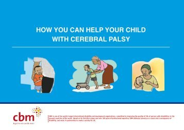 How You Can Help Your Child With Cerebral Palsy - CBM