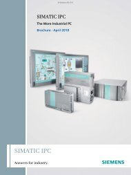 SIMATIC IPC The More Industrial PC - Siemens