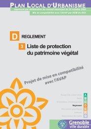 D3. Liste des Arbres Remarquables et EBC - Grenoble
