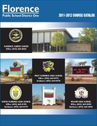 You need - Florence School District One